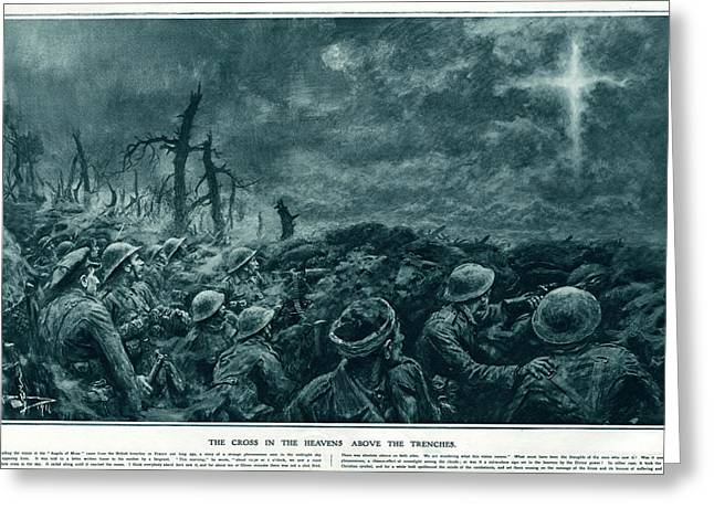 British Troops See The Cross Of Jesus Greeting Card by  Illustrated London News Ltd/Mar