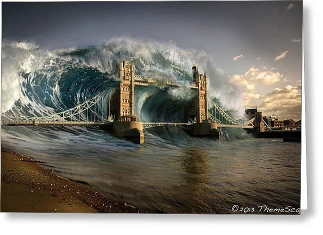 British Tsunami Greeting Card by T Dilley