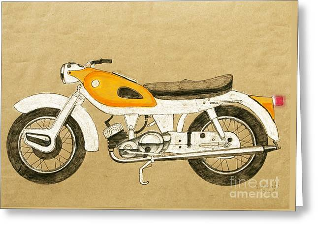 British Two Stroke Greeting Card