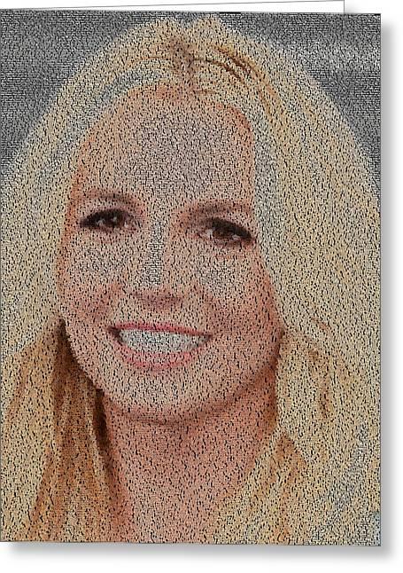 Britney Jean Spears Lyrics Mosaic Greeting Card