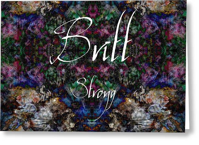 Britt - Strong Greeting Card by Christopher Gaston