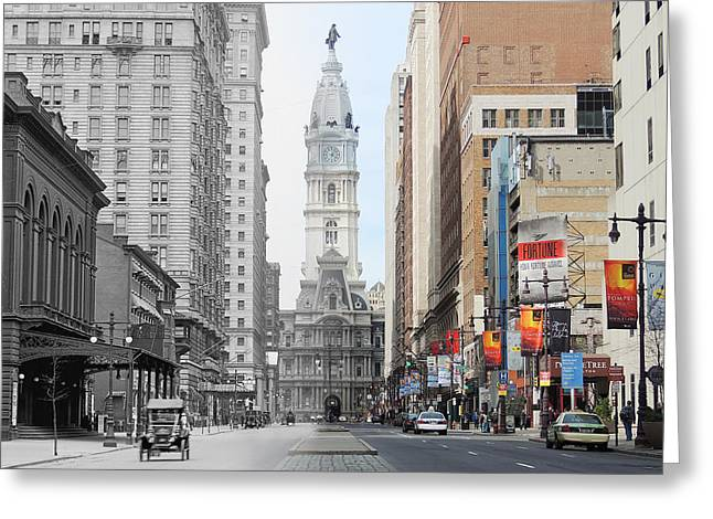 Broad And Locust Greeting Card