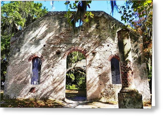 Broad Daylight At The Chapel Of Ease Greeting Card by Patricia Greer