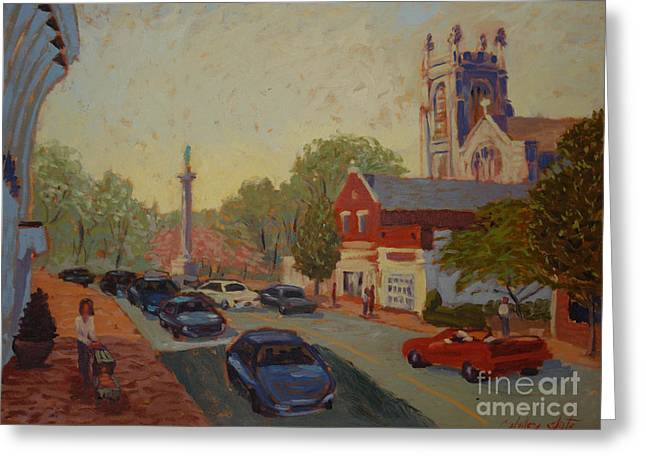 Broad St Westfield  Greeting Card by Monica Caballero