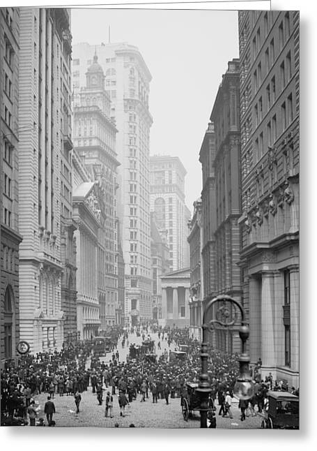 Broad Street, New York City, C.1905 Bw Photo Greeting Card by Detroit Publishing Co.