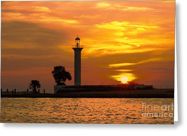Broadwater Lighthouse Greeting Card