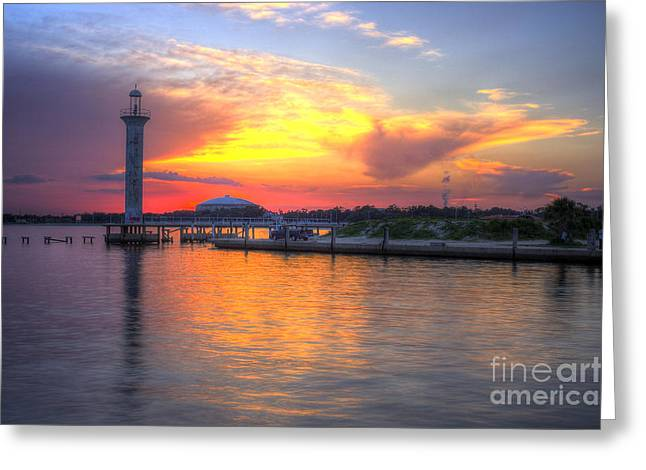Broadwater Marina Greeting Card