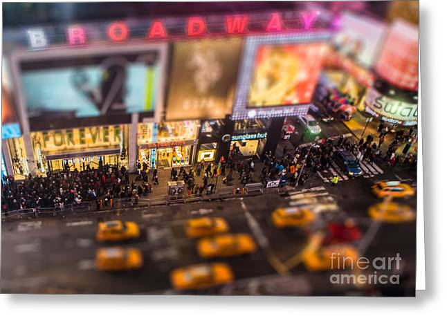 Broadway And 45th Street Greeting Card by Jerry Fornarotto