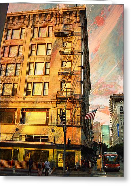 Broadway And Ninth Facing West Greeting Card