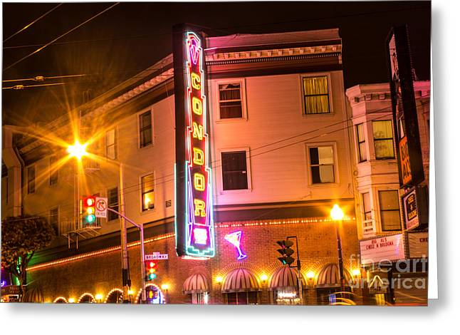 Broadway At Night Greeting Card by Suzanne Luft