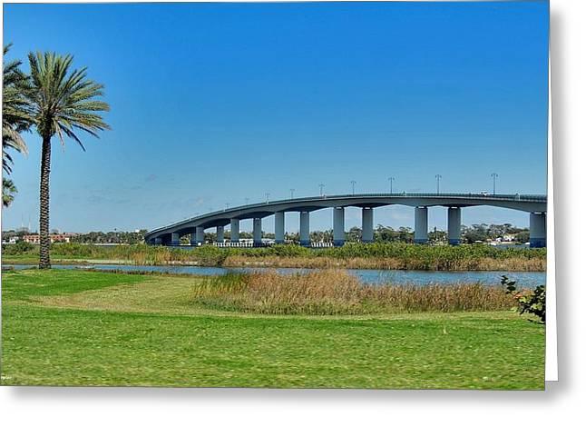 Broadway Bridge Daytona Beach Greeting Card