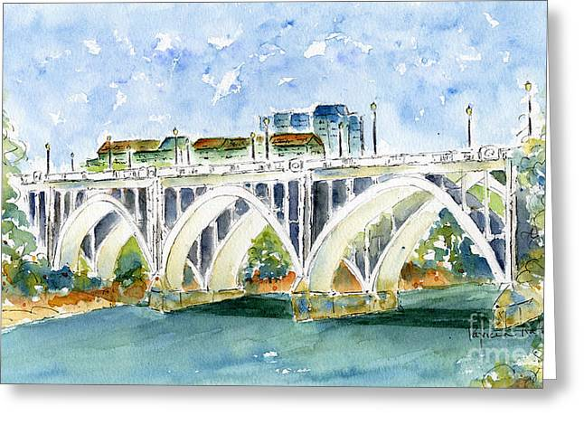 Broadway Bridge Greeting Card