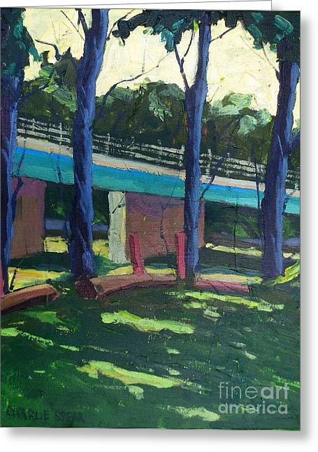 Broadway Bridge   Sold Greeting Card by Charlie Spear