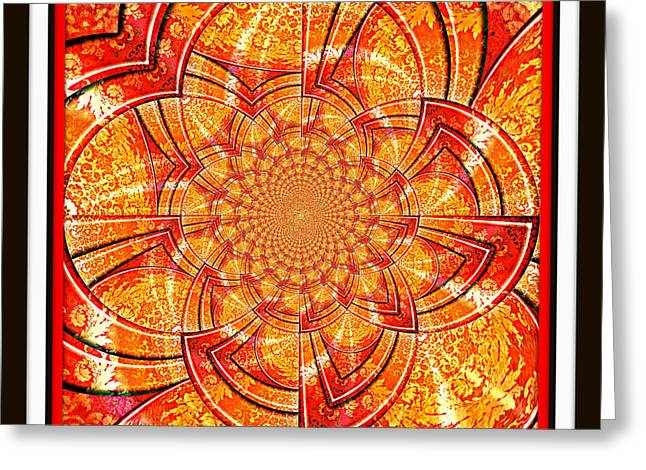 Greeting Card featuring the digital art Brocade Abstract by Charmaine Zoe