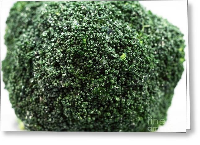 Broccoli Greeting Card by John Rizzuto