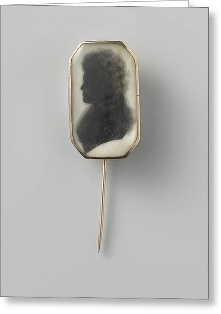 Broche Met Silhouet, Portrait Of A Woman Greeting Card by Litz Collection