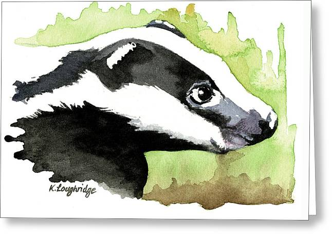 Brock Badger Greeting Card