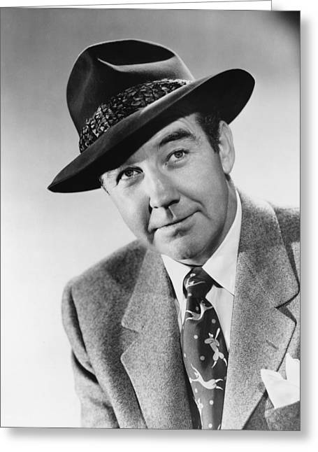 Broderick Crawford Greeting Card by Silver Screen
