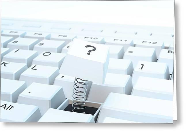 Broken Computer Keyboard Greeting Card by Andrzej Wojcicki