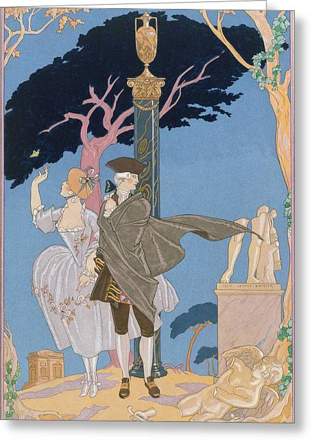 Broken Hearts Broken Statues Greeting Card by Georges Barbier