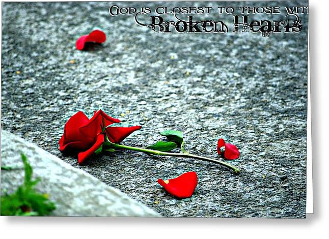 Broken Hearts Greeting Card