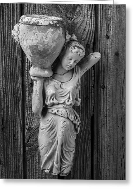 Broken Lady Statue Greeting Card