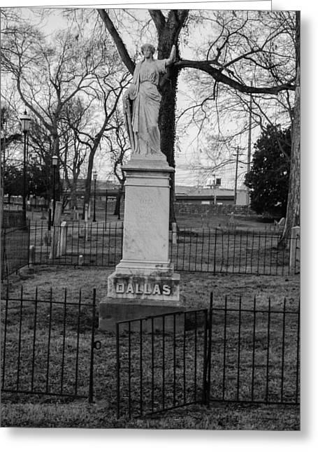 Broken Statue On Tombstone Greeting Card by Robert Hebert