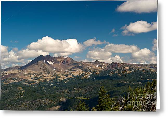 Broken Top Mountain In Summer Greeting Card by Jackie Follett