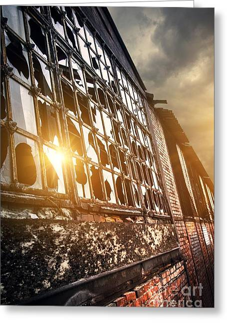 Broken Windows Greeting Card by Carlos Caetano