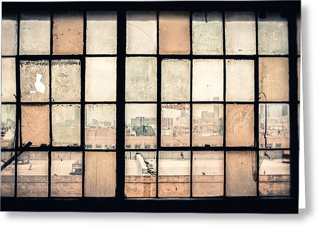 Broken Windows Greeting Card
