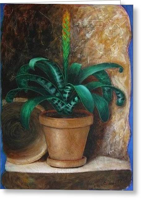 Bromelia Greeting Card by Edgar Torres