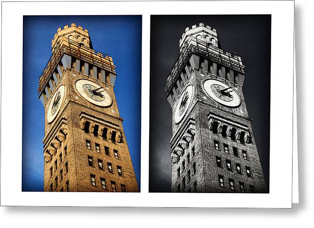 Bromo Seltzer Black And Blue Greeting Card by Stephen Stookey