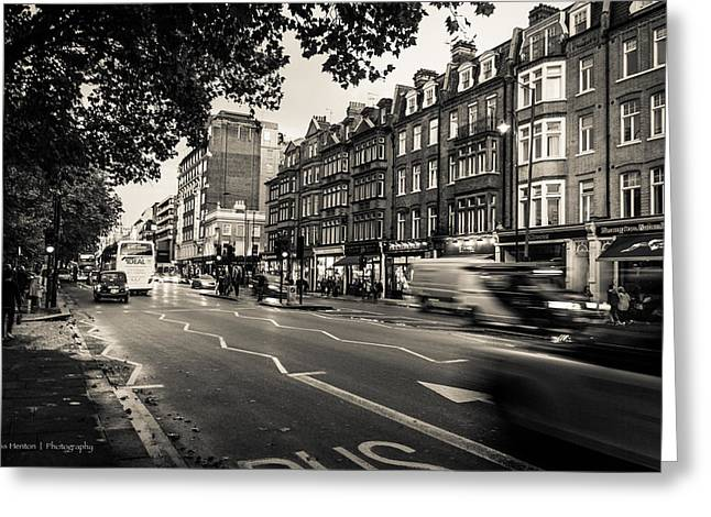Brompton Road Knightsbridge Greeting Card