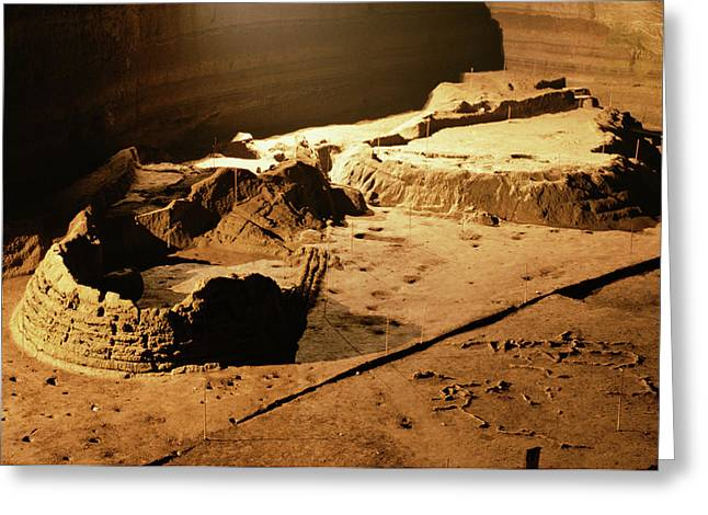 Bronze Age Archaeological Site Greeting Card by Pasquale Sorrentino/science Photo Library