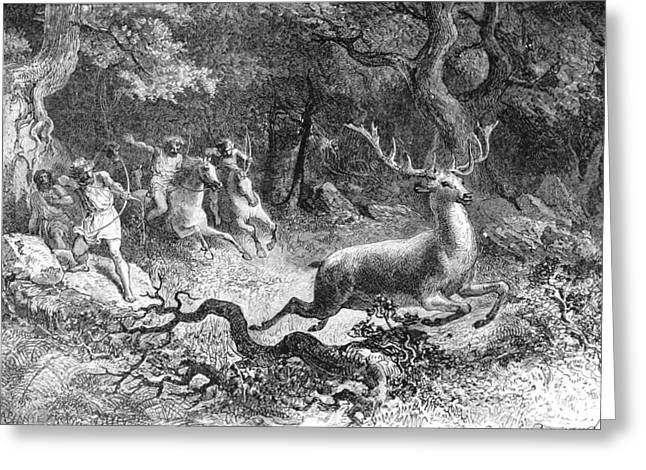 Bronze Age, Hunting Scene Greeting Card by British Library