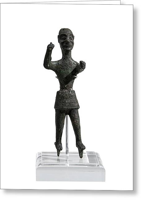 Bronze Figurine Of Baal Greeting Card by Science Photo Library