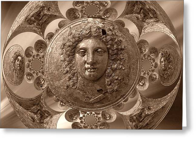Bronze Greek Sepia Greeting Card