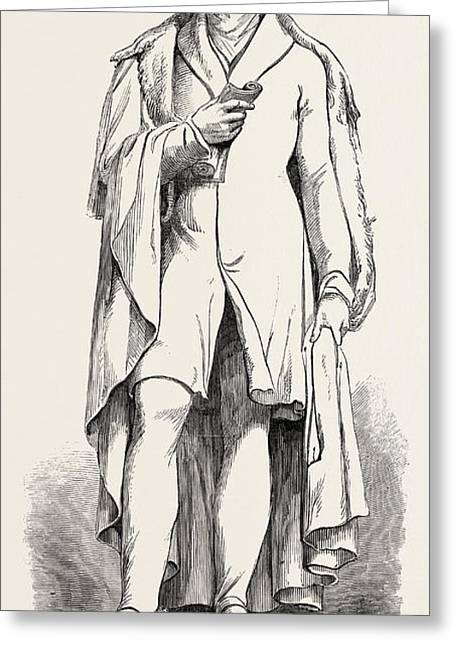 Bronze Statue Of Lord George Bentinck, Cavendish Square Greeting Card by Campbell, English School, 19th Century