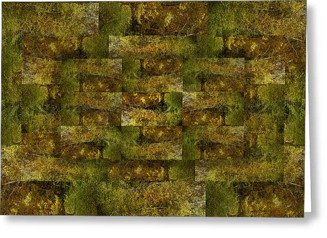 Greeting Card featuring the digital art Bronze Weave by Tom Romeo