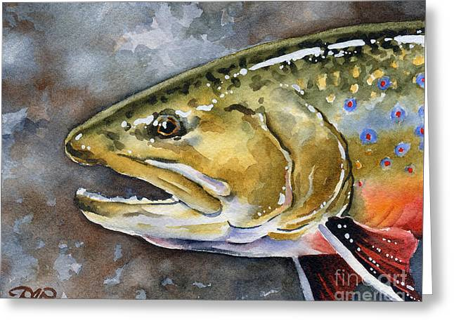 Brook Trout Greeting Card by David Rogers