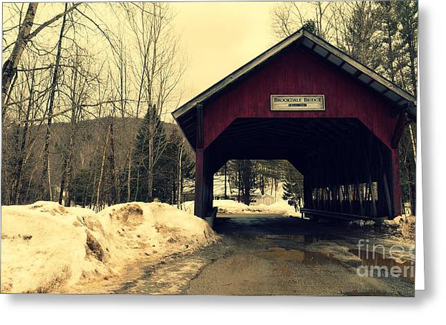 Brookdale Bridge At Stowe Vermont Greeting Card by Patricia Awapara