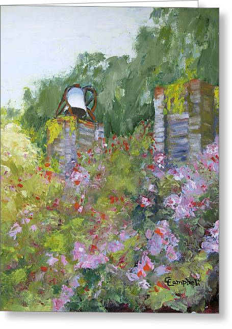 Brookgreen Old Kitchen Bell Greeting Card by Cecelia Campbell