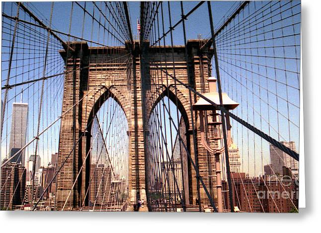 Brooklyn Bridge Before 9/11/01 Greeting Card