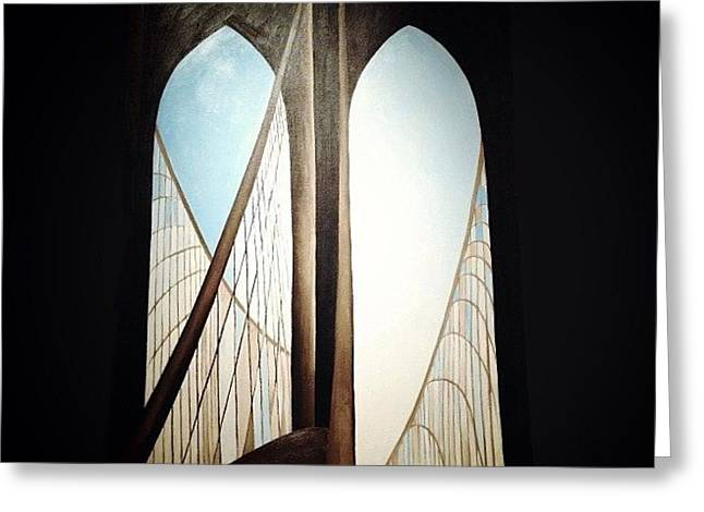 'brooklyn Bridge' By Georgia Greeting Card by Natasha Marco