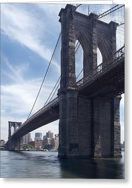 Brooklyn Bridge Greeting Card by Mike McGlothlen