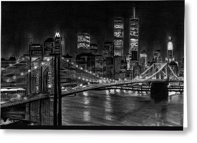 Brooklyn Bridge New York Greeting Card