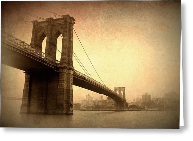 Brooklyn Bridge Nostalgia II Greeting Card