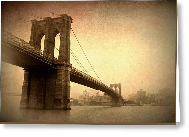 Brooklyn Bridge Nostalgia II Greeting Card