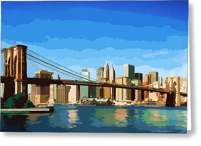 Brooklyn Bridge  Greeting Card by P Dwain Morris