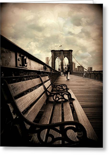 Brooklyn Bridge Respite Greeting Card